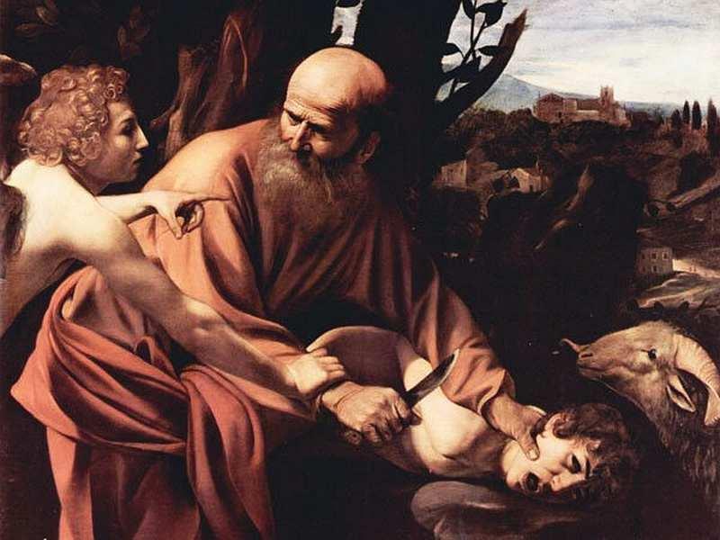 59-Микеланджело Меризи да Караваджо (1571–1610) Принесение в жертву Исаака 1601–1602.jpg