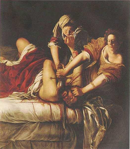 61-Артемизия Джентилески (1593 — около 1653) Юдифь, обезглавливающая Олоферна 1620.jpg
