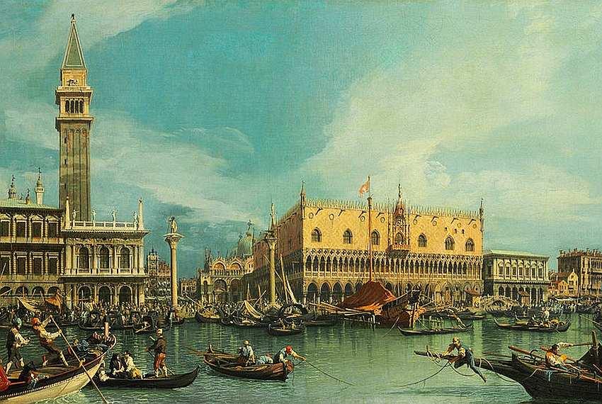 62-Антонио Каналь (Каналетто) (1697–1768) Вид на Дворец дожей в Венеции До 1755.jpg