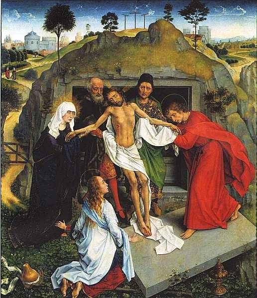 65-Рогир ван дер Вейден (1400–1464) Положение во гроб Около 1450.jpg