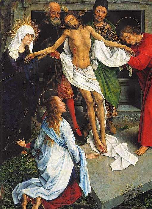 66-Рогир ван дер Вейден (1400–1464) Положение во гроб Около 1450 (фрагмент).jpg