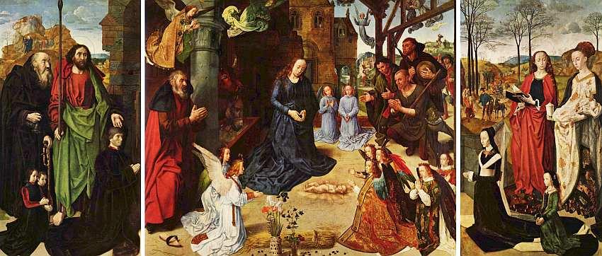 67-Гуго ван дер Гус (между 1435 и 1440–1482) Поклонение пастухов (Алтарь Портинари) Около 1476–1478.jpg