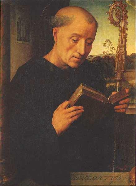 69-Ганс Мемлинг (между 1433 и 1440–1494) Святой Бенедикт 1487.jpg