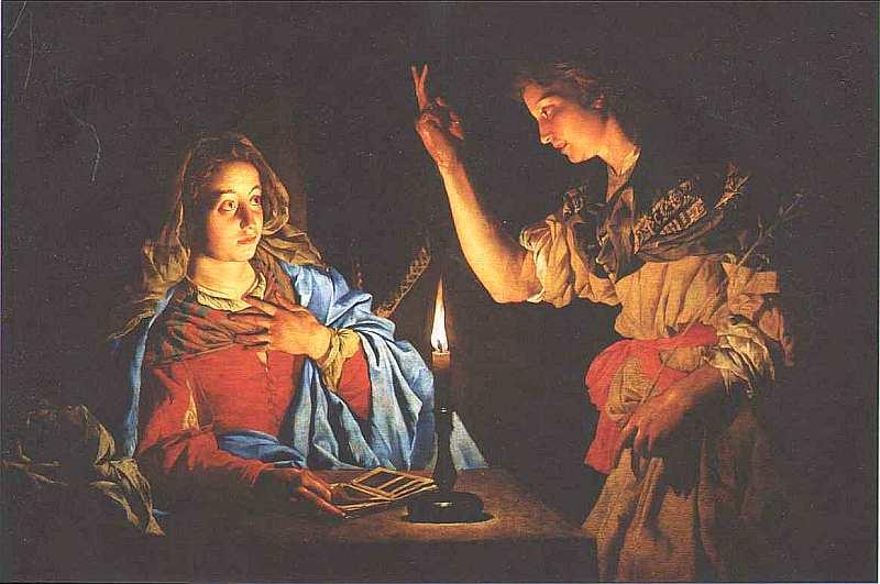 70-Маттиас Стомер (около 1600 — после 1649) Благовещение 1633–16371638.jpg