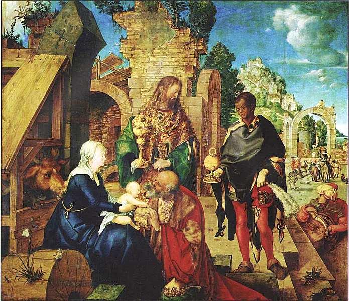 75-Альбрехт Дюрер (1471–1528) Поклонение волхвов 1504.jpg