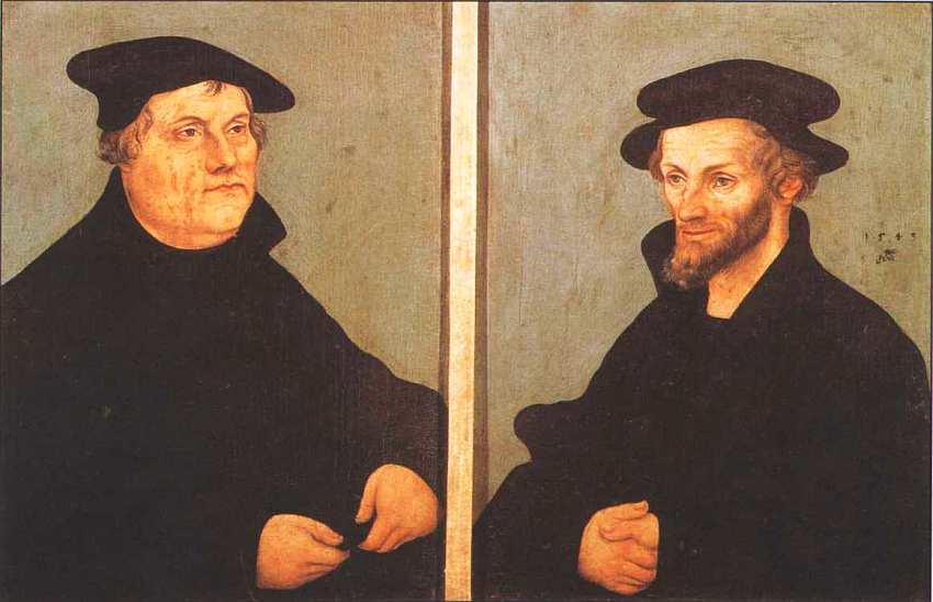 80-Лукас Кранах Старший (1472–1553) Портрет Мартина Лютера и Филиппа Меланхтон 1543.jpg