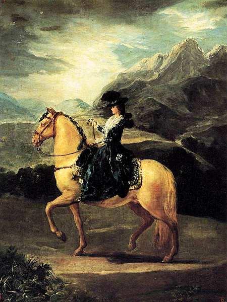 83-Франсиско Гойя (1746–1828) Портрет Марии-Терезы де Бурбон-и-Валлабрига на коне 1783.jpg