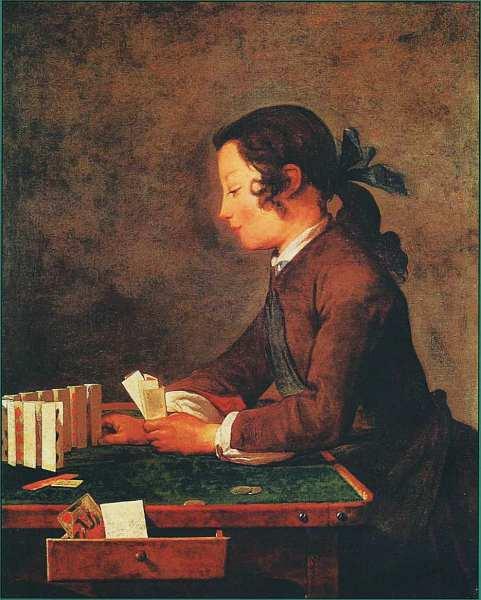 85-Жан-Батист Симеон Шарден. Мальчик с карточным замком. Около 1740.jpg