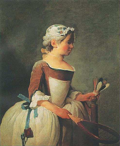 88-Жан-Батист Симеон Шарден (1699–1779) Девочка с воланом. Около 1737.jpg