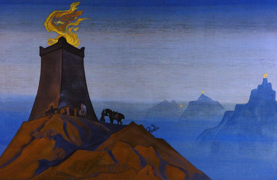 12-Николай Константинович Рерих - Цветы Тимура (Огни победы) - 1931.jpg