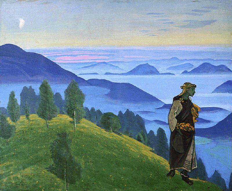 15-Николай Константинович Рерих - Дочь викинга (Ункрада) - 1918.jpeg