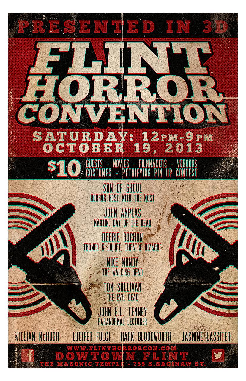 Flint Horror Con 2013 SHOW POSTER