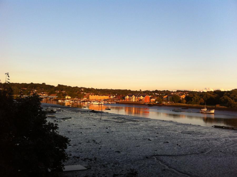 Sunrise, low tide