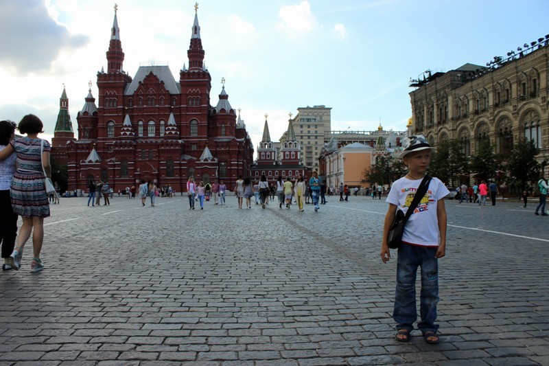 Дима на Красной площади