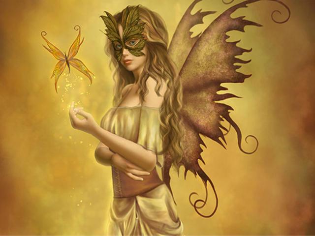Девушка в маске- желтая -1
