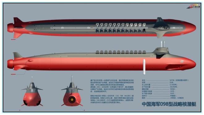 Проект стратегической атомной подводной лодки Type 098 (Китай)