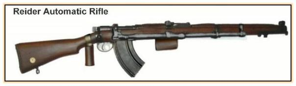 """Опытная автоматическая винтовка """"Reider automatic rifle"""" (ЮАР, 1940 – 1941 год)"""