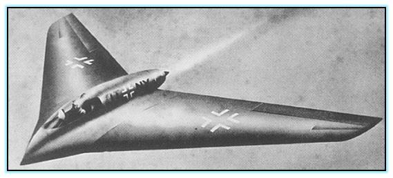 Проект истребителя Horten Ho X (10) (Германия. 1945 год)