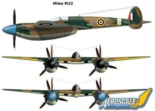 Проект истребителя Miles M.22 (Великобритания. 1941 год)