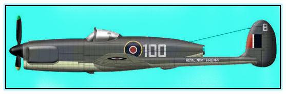 Проект палубного патрульного истребителя Miles M.58 (Великобритания. 1945 год)
