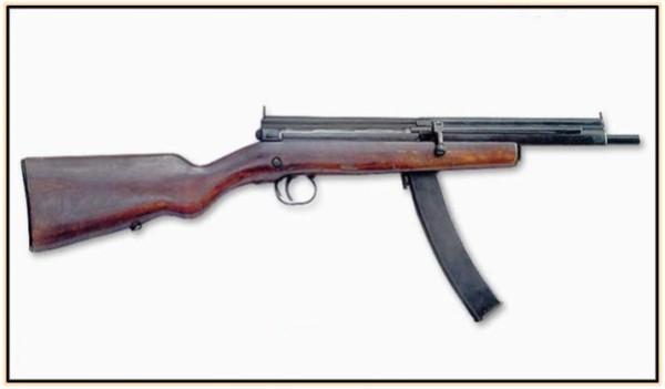 Опытный пистолет-пулемёт Симонова 6П46 (СССР. 1946 год).