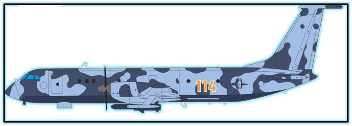 Проект базового патрульного самолёта Ил-114МП (Россия). 1