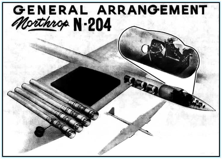 Проект сверхвысотного разведчика Northrop N-204 (США. 1957 год). Northrop N-204