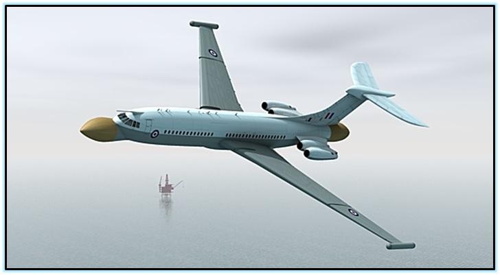 Vickers VC-10 бомбардировщик (1)