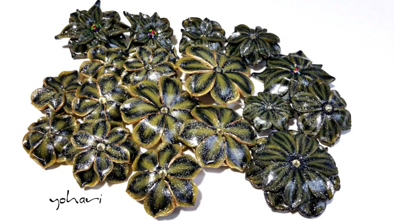 Броши и кулоны из коллекции 'Зеленый мох'