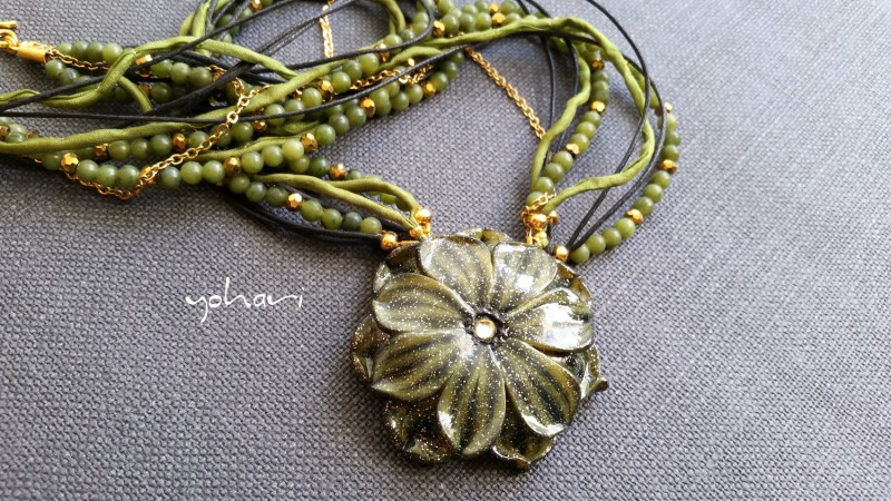 Green moss collection by Yohari - a neklace