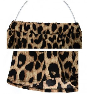 leopard short detail