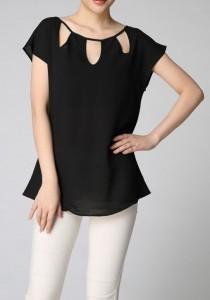 Cutout  Blouse black