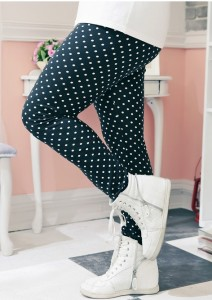 polka dots legging blackk