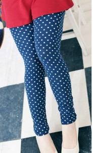 polka dots legging blue