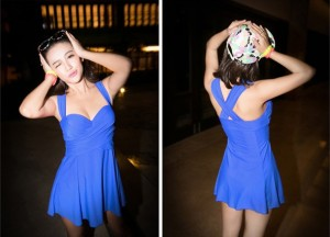 runching swimsuits BLUE