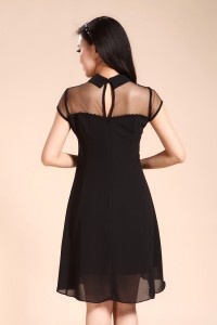 Peterpan collar mesh dress 3