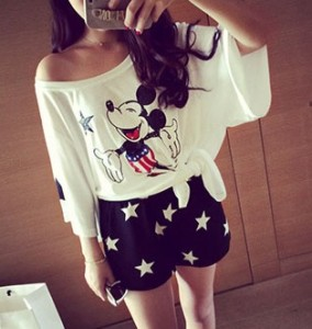 Starry Chiffon Shorts black m