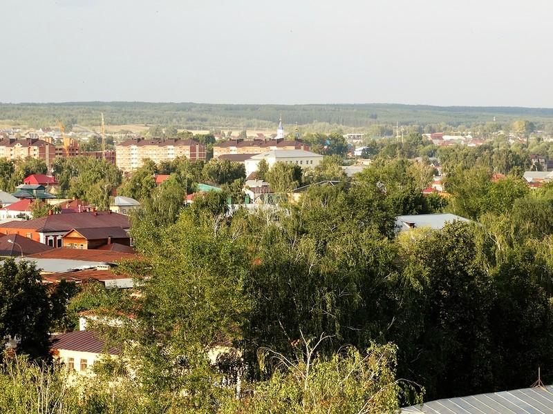 Елабуга, вид с колокольни Спасского собора