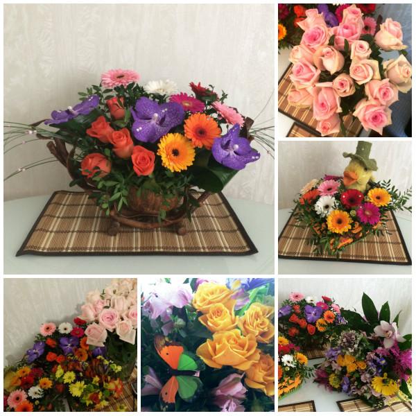 collage цветов