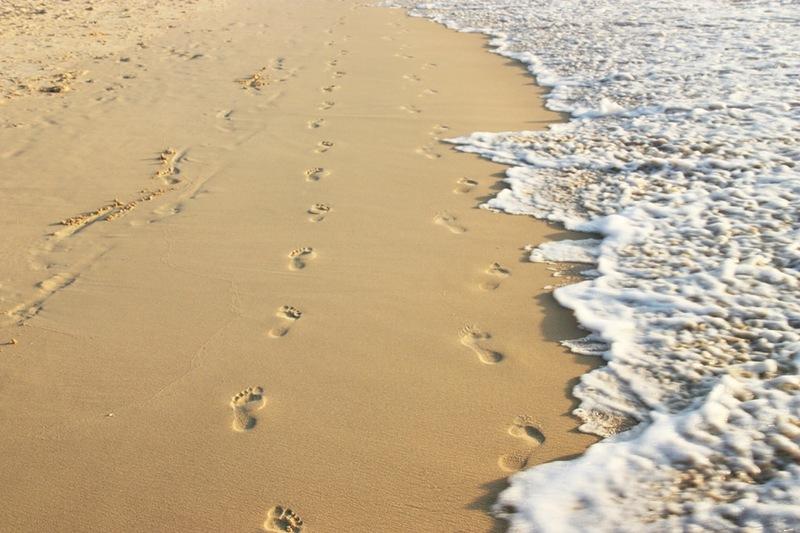 след на песке фото галя