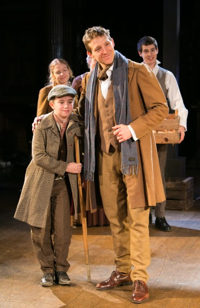 A-Christmas-Carol-Billy-Brown-as-Tiny-Tim-and-Haydn-Oakley-as-Bob-Cratchit