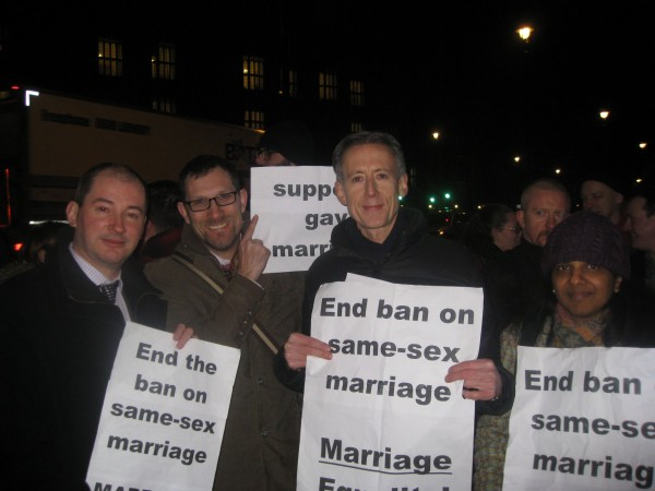 Peter and Raks - Equal Marriage Rally