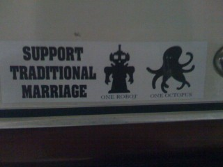 Bumper Sticker: Support Traditional Marriage