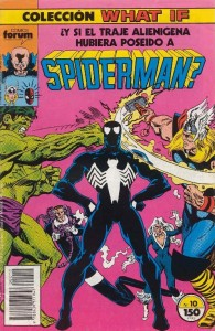 ¿y si el traje alienígena hubiera poseído a Spiderman?