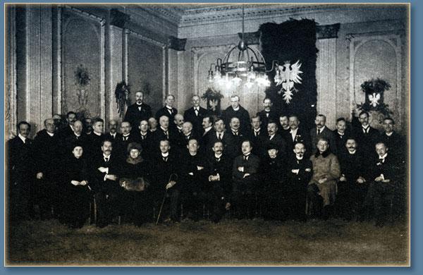 Группа членов ВНС, избранных 5 декабря 1918 г. Польским Региональным Сеймом