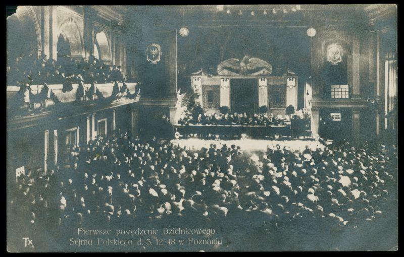 1-е заседание Польского Регионального Сейма, 3 декабря 1918 г.
