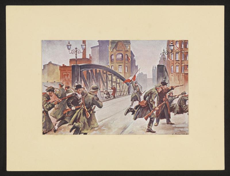 Фрагмент боев на Хвалишевском мосту. Картина участника восстания Леона Праужинского