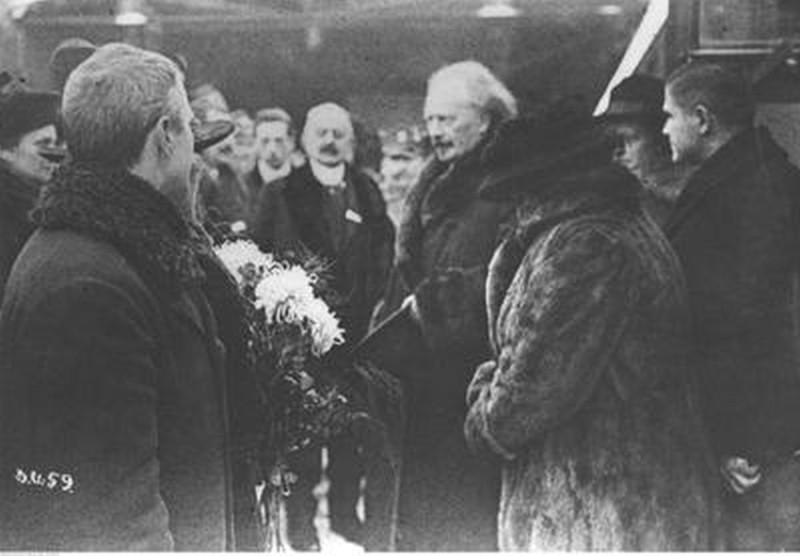 Встреча И. Я. Падеревского. Познань, 26 декабря 1918