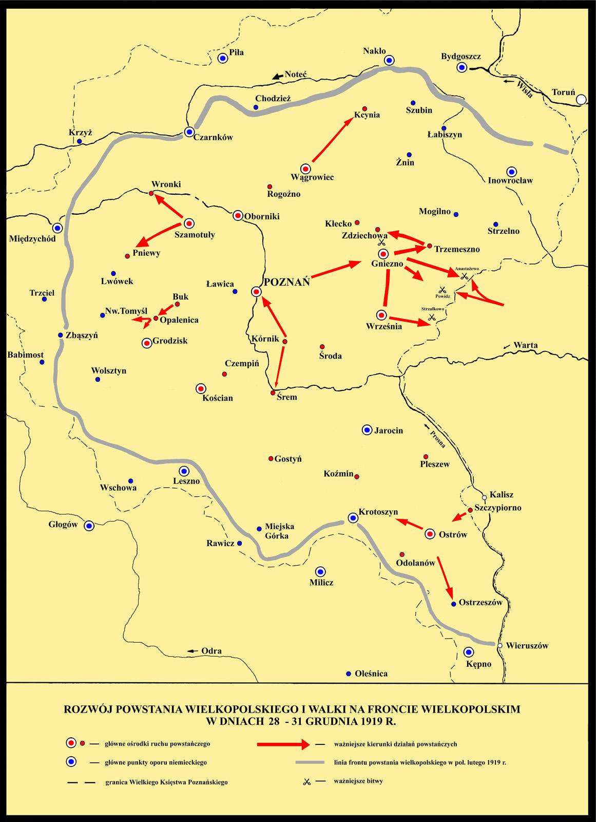 Развитие восстания и бои 28-31 декабря 1919 г.