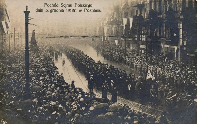 Поход участников Регионального сейма в Познани, 23 декабря 1918 г.